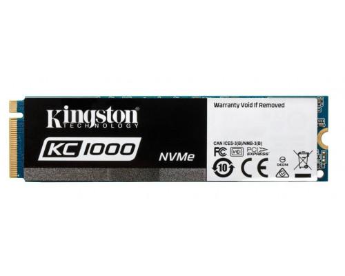 Твердотельный диск 960GB Kingston SSDNow KC1000, M.2, PCI-E 3.0 x4, [R/W - 2700/1600 MB/s]